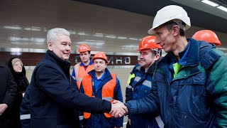 В Москве Собянин и Белозеров открыли станцию «Ховрино» будущей линии МЦД-3