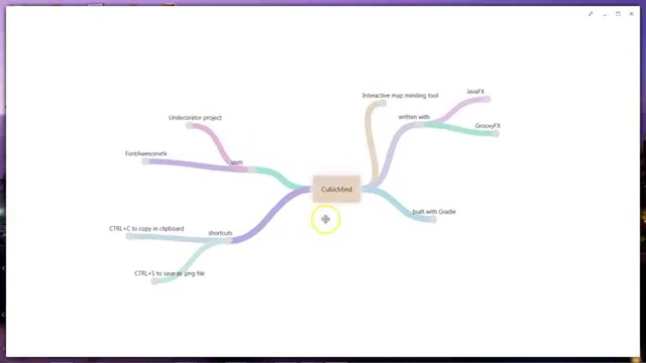 CubicMind my JavaFX mind mapping tool in action YouTube