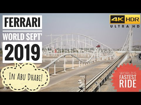 Riding the WORLD'S FASTEST Roller Coaster! | Ferrari World Vlog Abu Dhabi Sept' 2019 (4K Ultra HD)