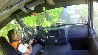 Widok jazdy z kabiny Man TGA 26.400 , automat - onboard drive