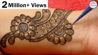 Arabic Henna Mehndi Design 2019  | New Mehndi Design For Girls by Jyoti Sachdeva .