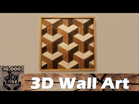 DIY : 3D Illusion Geometric Wooden Wall Art / Reclaimed wood wall art / Wall Accent / Wood Art