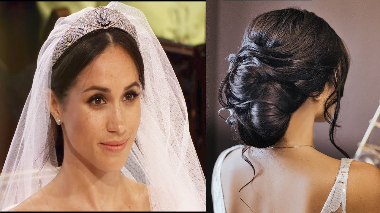 How To Repeat Meghan Markle Bridal Updo For Royal Wedding Youtube