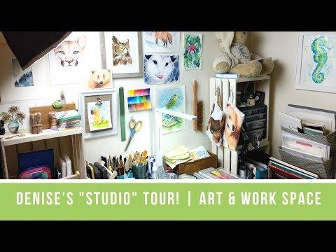 "In Liquid Color ""Studio"" Tour | Art Room & Work Space"