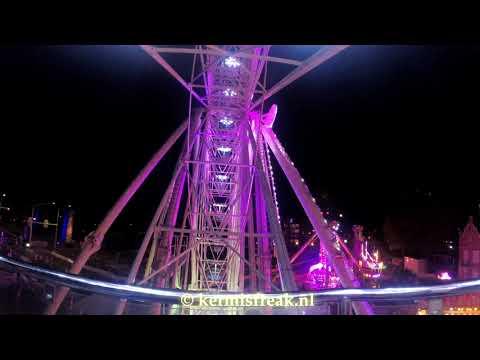 Sky Wheel Koevoetsde Vries Onride 4k Kermis Weert 28 9 2018