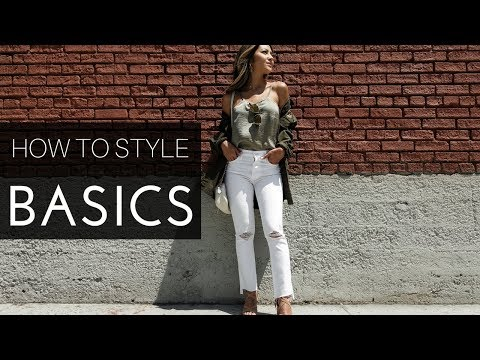 How To Style Basics | 5 Basic Outfits from Day to Night