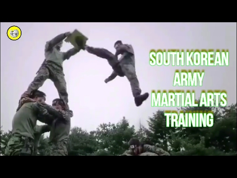 South Korean Army Training - Martial Arts Drill (2017)