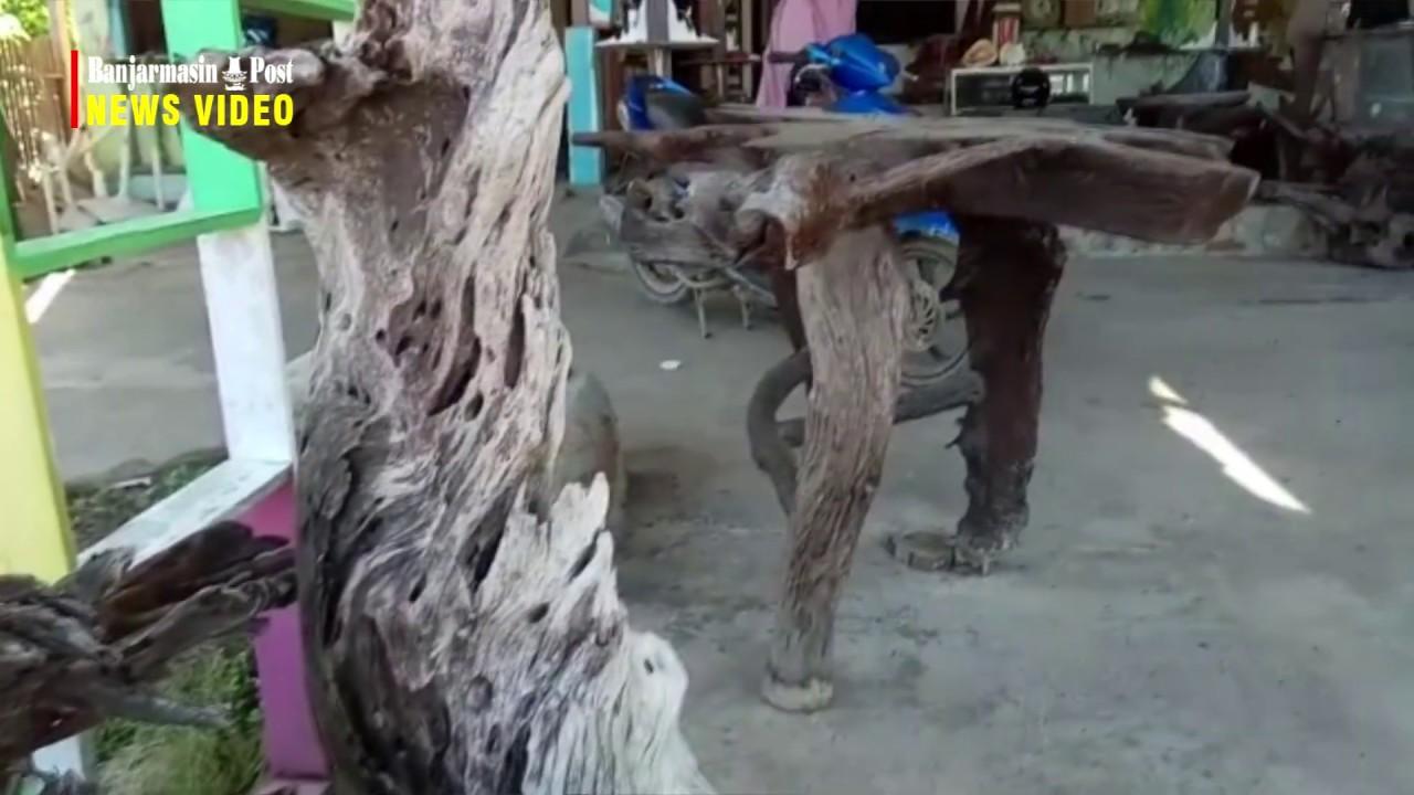 Di Tangan Warga Tanah Laut Ini Limbah Kayu Ulin Dibentuk Menjadi Barang Bernilai Tinggi