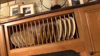 Wall Open Shelf Plate Rack