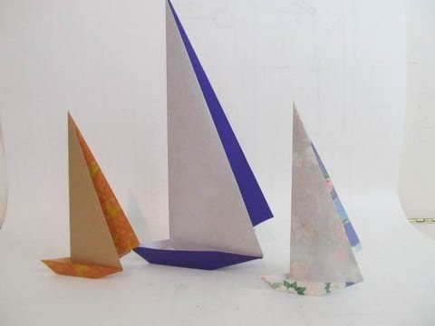 Fold An Origami Paper Sailboat Youtube