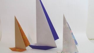 Fold an Origami Paper Sailboat