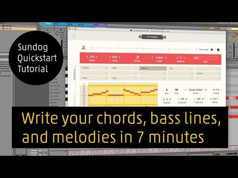 Quickstart tutorial for Sundog Song Studio