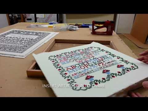 How To Frame A Cross Stitch Works Youtube