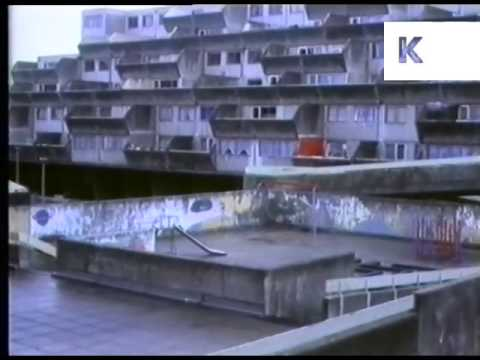 1980s UK Council Housing Estates, Urban Decay, Slums, Archive Footage
