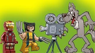 Железный человек в мире животных! Росомаха Супергерои Новые мультики для детей 2017 Лего мультфильмы