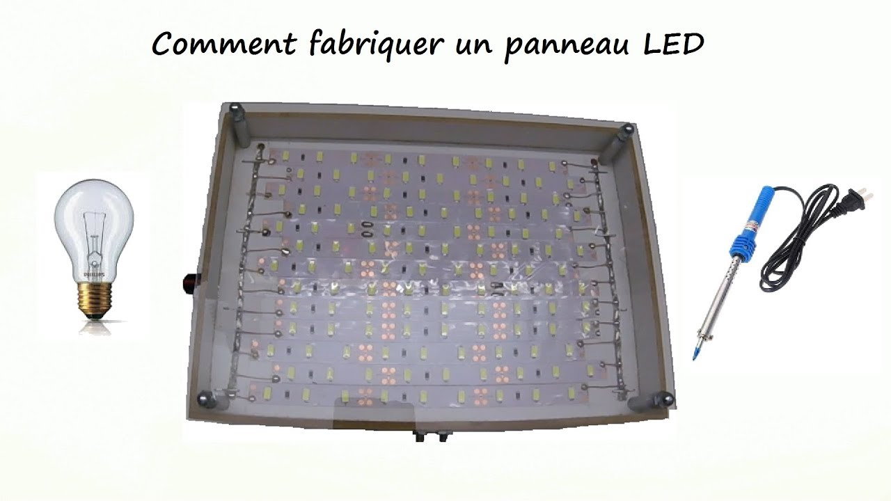 comment fabriquer un panneau led comment fabriquer un clairage led youtube. Black Bedroom Furniture Sets. Home Design Ideas