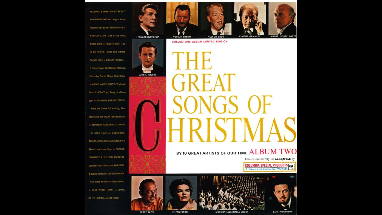 The Great Songs of Christmas Album Two. Goodyear 1962 - YouTube