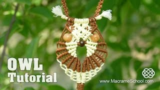Repeat youtube video Multicolored Macramé Owl - Necklace Tutorial