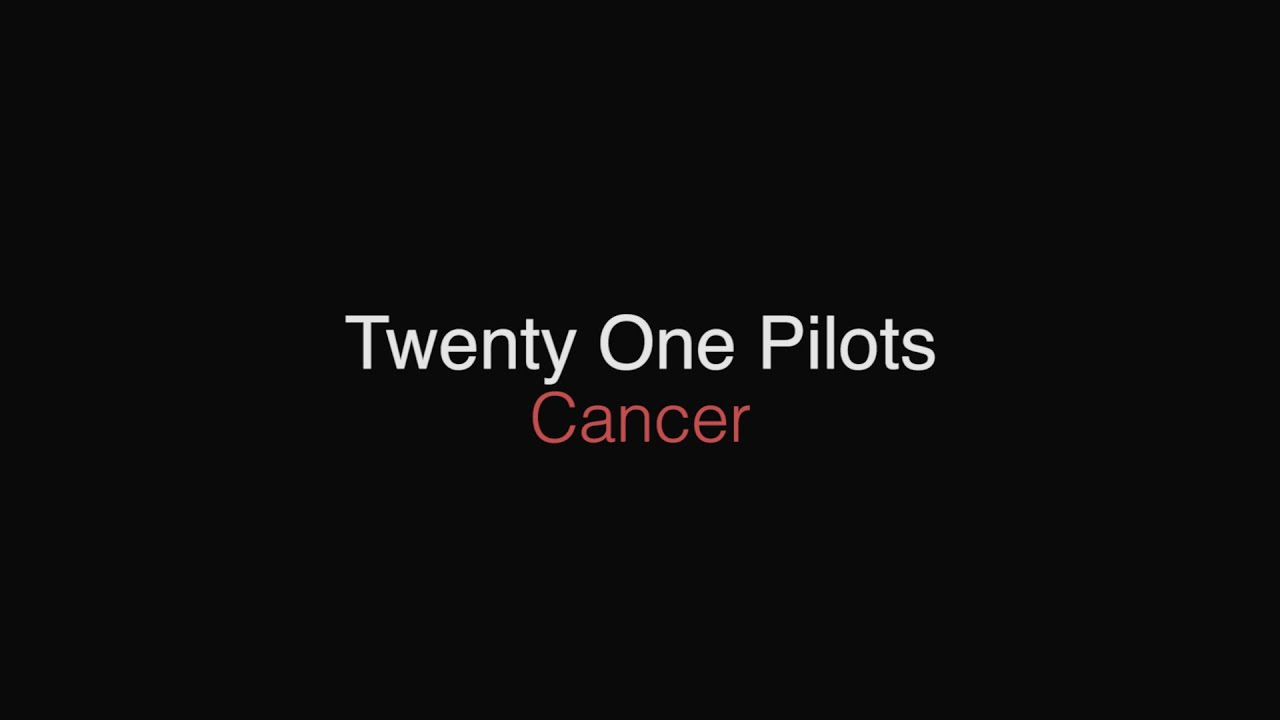Kitchen Sink Twenty One Pilots Logo twenty one pilots - cancer // lyrics - youtube