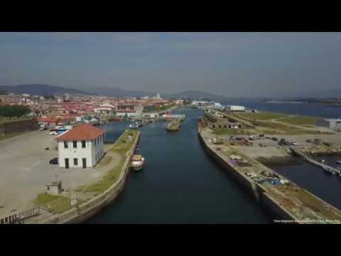 Viana do Castelo aerial view, Portugal - Drone Action 4k Ultra HD
