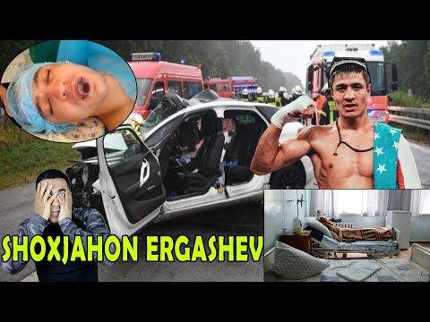 ШОХЖАХОН ЭРГАШЕВ ОГИР АХВОЛДА. АВТОХАЛОКАТ!!!