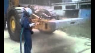 piaskowanie ładowarki CAT