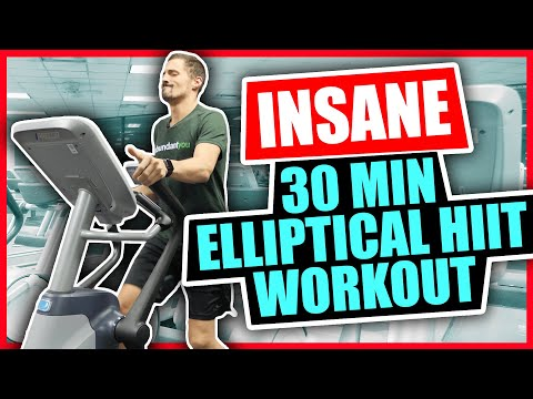 Insane 30 Minute Elliptical Workout HIIT Workout
