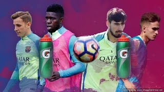 FC Barcelona: The bottle-goal challenge #1