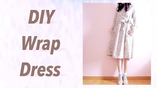 DIY Wrap Dress / Sewing Tutorialㅣmadebyaya