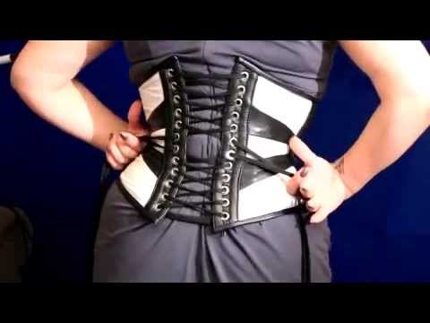How to lace up a corset by yourself youtube how to lace up a corset by yourself ccuart Choice Image