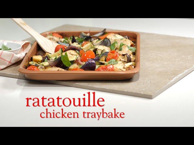 Slimming World ratatouille chicken traybake - Syn FREE