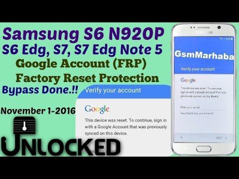 Google Account Bypass Galaxy S6 (FRP Reset) -Done