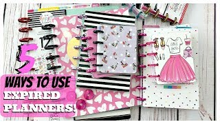 5 ways to use expired planners | Happy Planners