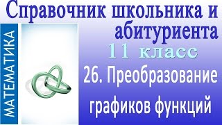 Преобразование графиков функций. Видеосправочник по математике # 26