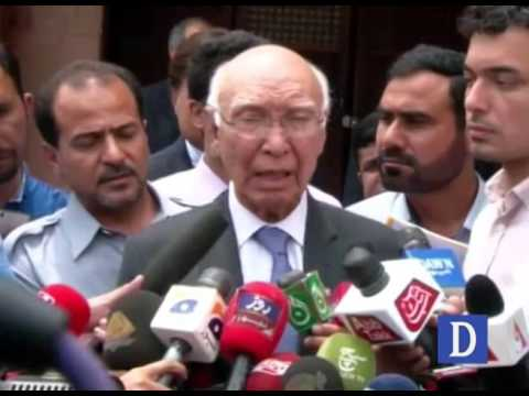 Sartaj Aziz media talks in Islamabad