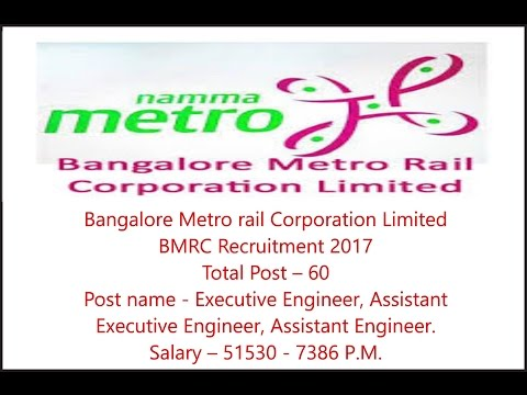 Bangalore Metro Metro Rail Recruitment 2017, Various Posts, Apply Before 02.05.2017