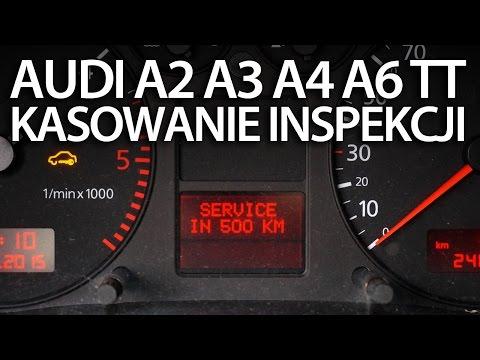 Kasowanie inspekcji serwisowej w Audi A2, A3 8L, A4 B6, A6 C5, TT 8N (service olej reset)