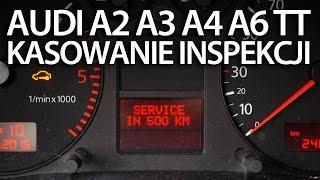 kasowanie inspekcji serwisowej w audi a2 a3 8l a4 b6 a6 c5 tt 8n service olej reset