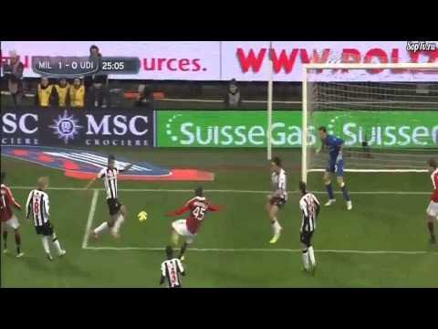 Mario Balotelli Debut Goal ( Ac Milan Vs Udinese ) 1-0 HD