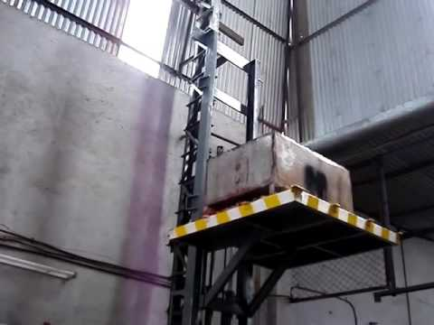 hydraulic goods lift stationary stacker by ''Nikam industries'' Vishwajit Nikam