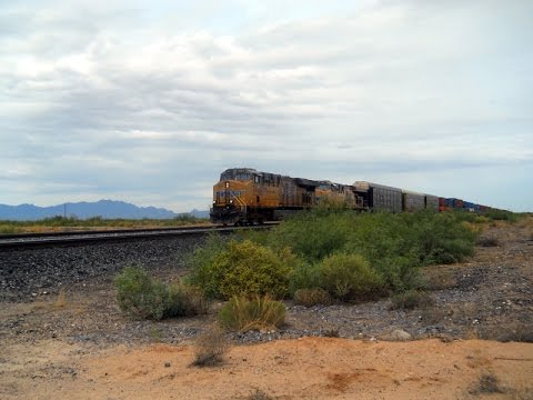 Watching Union Pacific Trains in New Mexico 8 9 2016