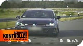Golf GTI rast über die Autobahn! Droht jetzt das Fahrverbot? | Achtung Kontrolle | kabel eins