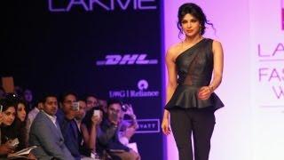 Priyanka Chopra walks for Lakme Fashion Week 2013