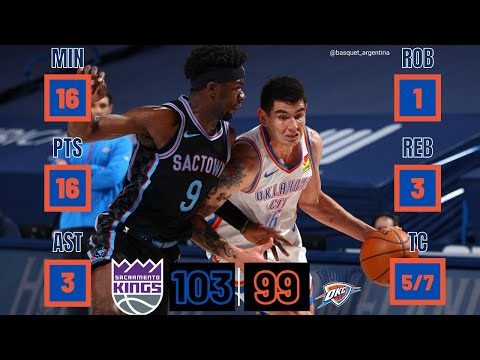 Gabriel Deck | NBA Highlights | Oklahoma City Thunder - Sacramento Kings