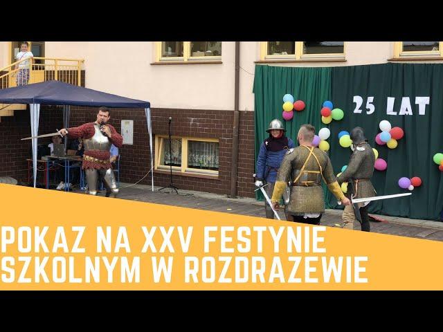 Pokaz na XXV festynie szkolnym w Rozdra?ewie