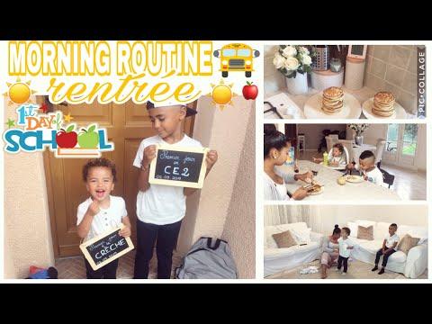 🍎morning-routine-1er-jour-d'École-/-rentrÉe-scolaire-+-recette-pancakes-🥞-back-to-school-in-france