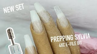 SILICONE HAND REMOVAL OF NAIL AND PREP FOR NEW SET | 4XC E-FILE BIT