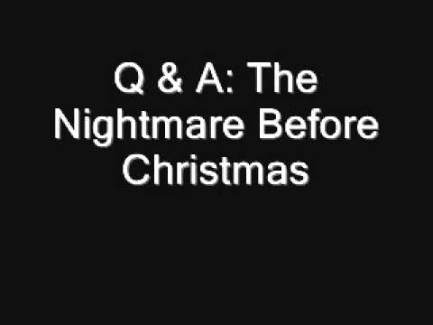 Q & A Nightmare Before Christmas