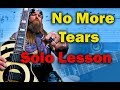 How to play 'No More Tears' by Ozzy Osbourne Guitar Solo Lesson w/tabs