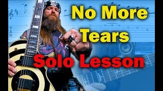 How to play ?No More Tears? by Ozzy Osbourne Guitar Solo Lesson w / tabs